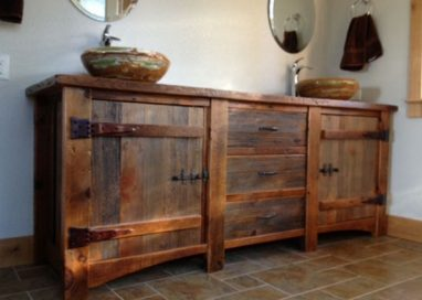 The Making of a Barnwood Vanity from Reclaimed Barn Boards