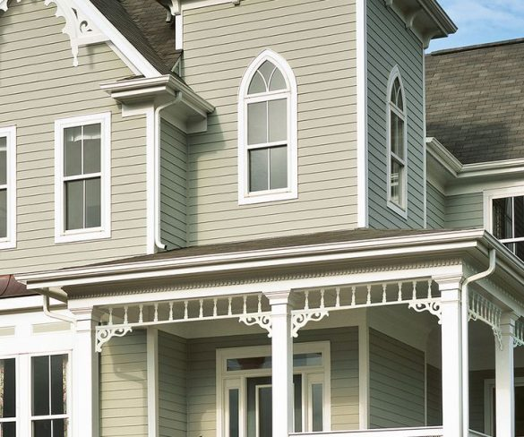 Do large-format fiber cement sidings and panels work well on all house styles?
